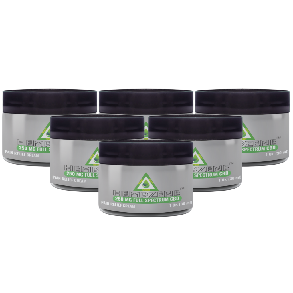 Hempzene CBD Relief Cream - 250 MG - 6 Jars